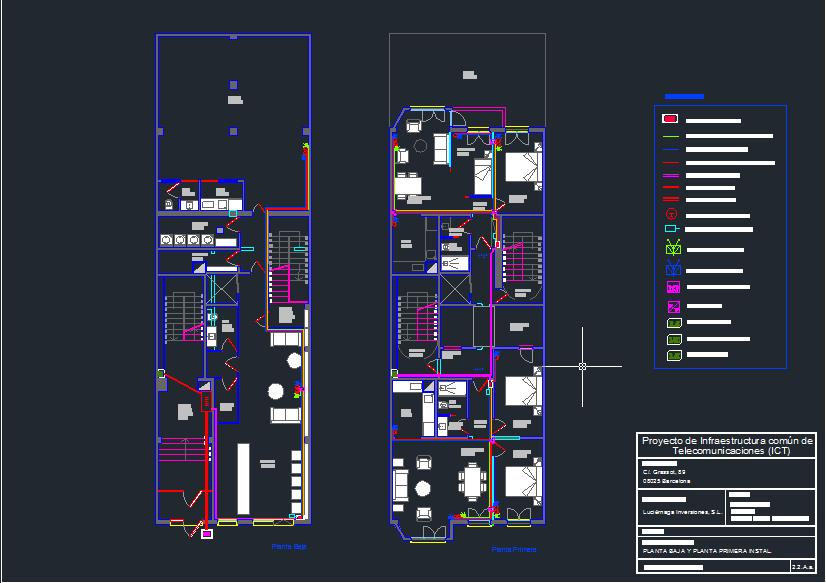 Proyecto de telecomunicaciones de 8 viviendas en Barcelona